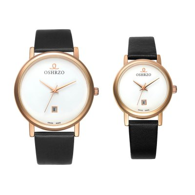 OSHRZO os8018p3 Couple Quartz Date Display WatchCouples Watches<br>OSHRZO os8018p3 Couple Quartz Date Display Watch<br><br>Band Length: men: 9.45 inch, women: 8.27 inch<br>Band Material Type: Leather<br>Band Width: men: 18mm, women: 10mm<br>Case material: Alloy<br>Case Shape: Round<br>Clasp type: Pin Buckle<br>Dial Diameter: men: 1.57 inch, women: 1.18 inch<br>Dial Display: Analog<br>Dial Window Material Type: Glass<br>Feature: Date<br>Gender: lovers,Men,Women<br>Movement: Quartz<br>Package Contents: 1 x Couple Watch<br>Package Size(L x W x H): 10.00 x 10.00 x 6.30 cm / 3.94 x 3.94 x 2.48 inches<br>Package weight: 0.197 kg<br>Product Size(L x W x H): 24.00 x 7.00 x 0.80 cm / 9.45 x 2.76 x 0.31 inches<br>Product weight: 0.057 kg<br>Style: Fashion &amp; Casual