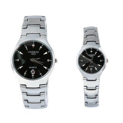 OSHRZO os8015g1 Chic Couple Quartz Watch Rhinestone Date DisplayCouples Watches<br>OSHRZO os8015g1 Chic Couple Quartz Watch Rhinestone Date Display<br><br>Band Length: men: 9.84 inch, women: 9.44 inch<br>Band Material Type: Stainless Steel<br>Band Width: men: 18mm, women: 12mm<br>Case material: Alloy<br>Case Shape: Round<br>Clasp type: Folding Clasp<br>Dial Diameter: men: 1.57 inch, women: 0.98 inch<br>Dial Display: Analog<br>Dial Window Material Type: Glass<br>Gender: lovers,Men,Women<br>Movement: Quartz<br>Package Contents: 1 x Couple Watch<br>Package Size(L x W x H): 10.00 x 10.00 x 6.30 cm / 3.94 x 3.94 x 2.48 inches<br>Package weight: 0.261 kg<br>Product Size(L x W x H): 25.00 x 6.50 x 0.70 cm / 9.84 x 2.56 x 0.28 inches<br>Product weight: 0.121 kg<br>Style: Fashion &amp; Casual