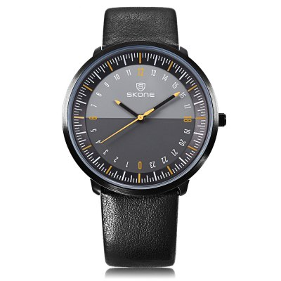 Skone 9425G Male Quartz WatchMens Watches<br>Skone 9425G Male Quartz Watch<br><br>Band Length: 7.87 inch<br>Band Material Type: Leather<br>Band Width: 18mm<br>Case material: Alloy<br>Case Shape: Round<br>Clasp type: Pin Buckle<br>Dial Diameter: 1.5 inch<br>Dial Display: Analog<br>Dial Window Material Type: Glass<br>Gender: Men<br>Movement: Quartz<br>Style: Business<br>Water Resistance Depth: 30m<br>Product weight: 0.034 kg<br>Package weight: 0.055 kg<br>Product Size(L x W x H): 23.50 x 4.00 x 0.60 cm / 9.25 x 1.57 x 0.24 inches<br>Package Size(L x W x H): 24.50 x 5.00 x 1.60 cm / 9.65 x 1.97 x 0.63 inches<br>Package Contents: 1 x Watch