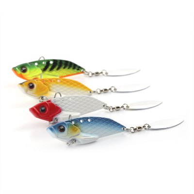 HENGJIA 4pcs Fishing Bait Artificial Metal Sequin Fish Lure