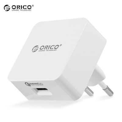 ORICO QCK - 1U 18W QC 2.0 Single USB Output Wall Travel Charger Adapter