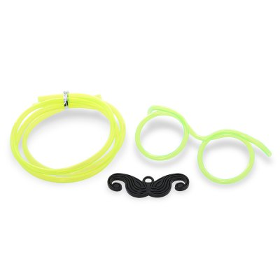 Novelty DIY Drinking Glasses Straw with Mustache for Party