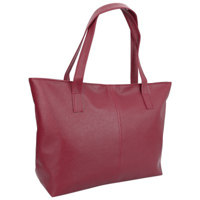 Stylish Pure Color Zipper Type PU Leather Women BagWomens Bags<br>Stylish Pure Color Zipper Type PU Leather Women Bag<br><br>Handbag Type: Bucket Bag<br>Style: Fashion<br>Gender: For Women<br>Pattern Type: Solid<br>Closure Type: Zipper<br>Internal Material: Polyester<br>External Material: PU<br>Size(CM)(L*W*H): 33 x 11.00 x 27.00 cm / 12.99 x 4.33 x 10.63 inches<br>Product weight: 0.260 kg<br>Package weight: 0.281 kg<br>Package size (L x W x H): 45.50 x 11.50 x 27.50 cm / 17.91 x 4.53 x 10.83 inches<br>Package Contents: 1 x Bag