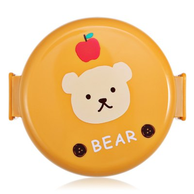 Cute Cartoon Animals Double Layer Round Lunch Box