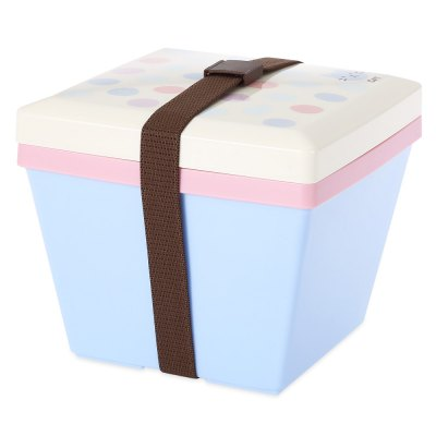 Square Double Layer Japanese Lunch Box Container