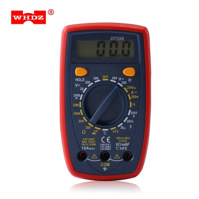 WHDZ DT33A Backlight Display Alarm Digital Multimeter