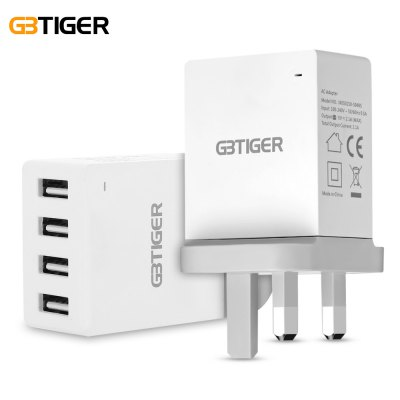GBTIGER 4 USB 5V 2.1A Multifunctional LED Travel Adapter