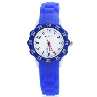 OSD 712 Kids Sport WatchKids Watches<br>OSD 712 Kids Sport Watch<br><br>Band Length: 7.28 inch<br>Band Material Type: Rubber<br>Band Width: 25mm<br>Case material: Alloy<br>Case Shape: Round<br>Clasp type: Pin Buckle<br>Dial Diameter: 1.18 inch<br>Dial Display: Analog<br>Dial Window Material Type: Glass<br>Gender: Children<br>Movement: Quartz<br>Package Contents: 1 x Watch<br>Package Size(L x W x H): 24.00 x 7.00 x 1.00 cm / 9.45 x 2.76 x 0.39 inches<br>Package weight: 0.041 kg<br>Product Size(L x W x H): 22.50 x 3.50 x 0.70 cm / 8.86 x 1.38 x 0.28 inches<br>Product weight: 0.019 kg<br>Style: Sport<br>Water Resistance Depth: 30m