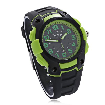 OSD 703 Children Quartz WatchKids Watches<br>OSD 703 Children Quartz Watch<br><br>Band Length: 8.27 inch<br>Band Material Type: Silicone<br>Band Width: 20mm<br>Case material: Plastic<br>Case Shape: Round<br>Clasp type: Pin Buckle<br>Dial Diameter: 1.57 inch<br>Dial Display: Analog<br>Dial Window Material Type: Glass<br>Gender: Children<br>Movement: Quartz<br>Package Contents: 1 x Watch<br>Package Size(L x W x H): 26.00 x 7.00 x 2.00 cm / 10.24 x 2.76 x 0.79 inches<br>Package weight: 0.060 kg<br>Product Size(L x W x H): 25.50 x 4.50 x 1.50 cm / 10.04 x 1.77 x 0.59 inches<br>Product weight: 0.038 kg<br>Style: Sport<br>Water Resistance Depth: 30m