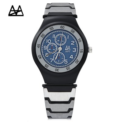 Zuimeier 2071 Male Quartz WatchMens Watches<br>Zuimeier 2071 Male Quartz Watch<br><br>Band Length: 8.27 inch<br>Band Material Type: PVC, Stainless Steel<br>Band Width: 20mm<br>Case material: Alloy<br>Case Shape: Round<br>Clasp type: Pin Buckle<br>Dial Diameter: 1.38 inch<br>Dial Display: Analog<br>Dial Window Material Type: Glass<br>Gender: Men<br>Movement: Quartz<br>Package Contents: 1 x Watch<br>Package Size(L x W x H): 26.50 x 5.50 x 2.00 cm / 10.43 x 2.17 x 0.79 inches<br>Package weight: 0.060 kg<br>Product Size(L x W x H): 25.50 x 4.00 x 0.70 cm / 10.04 x 1.57 x 0.28 inches<br>Product weight: 0.038 kg<br>Style: Business