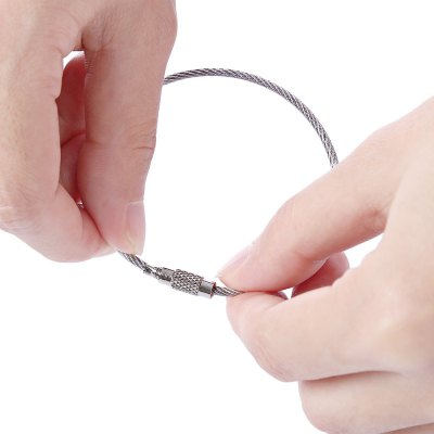 10pcs Stainless Steel Wire Rope Chain Key Ring