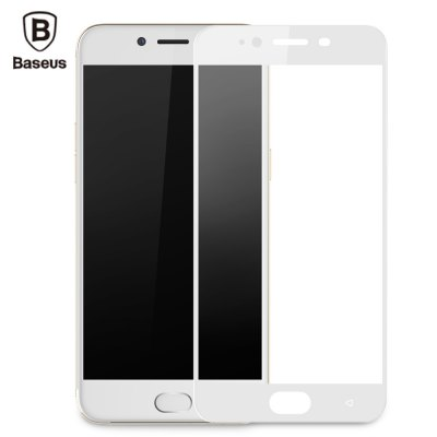 Baseus 3D Arc 9H Tempered Glass PET Soft Border Shatterproof Screen Protective Film for OPPO R9s 0.23mm