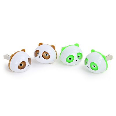 Pair of Car Cute Panda Perfume Box Creative Decoration
