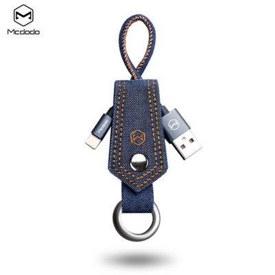 Mcdodo Jeans Keyring 8 Pin Charge Data Transfer Cord 0.2m
