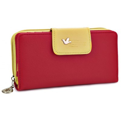 Bird Letter Water Drop Leaf Color Block Wallet