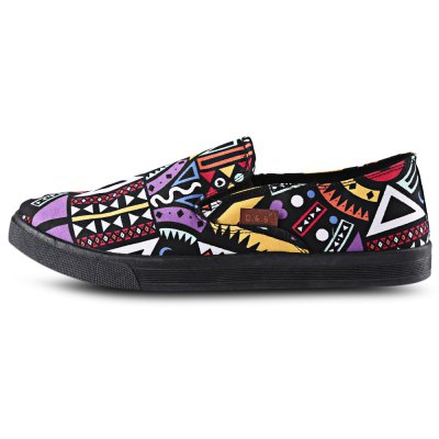 Geometric Patterns Print Slip On Male Breathable ShoesCasual Shoes<br>Geometric Patterns Print Slip On Male Breathable Shoes<br><br>Available Size: 40, 41, 42, 44<br>Closure Type: Slip-On<br>Embellishment: None<br>Gender: For Men<br>Occasion: Casual<br>Outsole Material: Rubber<br>Package Contents: 1 x Pair of Shoes<br>Pattern Type: Print<br>Season: Summer, Spring/Fall<br>Shoe Width: Medium(B/M)<br>Toe Shape: Round Toe<br>Toe Style: Closed Toe<br>Upper Material: Canvas<br>Weight: 0.6430kg