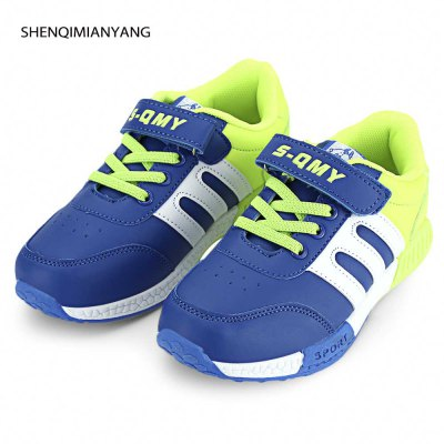 SHENQIMIANYANG Boys Casual Color Block Sneaker
