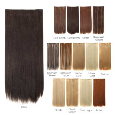 AISI HAIR 5 Clips in Hair ExtensionsHair Extensions<br>AISI HAIR 5 Clips in Hair Extensions<br><br>Gender: Female,Girl<br>Hair Density: 120 Heavy Density<br>Length: Long<br>Length Size(CM): 60<br>Length Size(Inch): 23.62<br>Material: Synthetic High Temperature Hair<br>Package Contents: 1 x Piece of Hair Extension<br>Package size (L x W x H): 30.00 x 5.00 x 5.00 cm / 11.81 x 1.97 x 1.97 inches<br>Package weight: 0.1400 kg<br>Product weight: 0.1100 kg<br>Style: Silky Straight<br>Type: Half Wigs