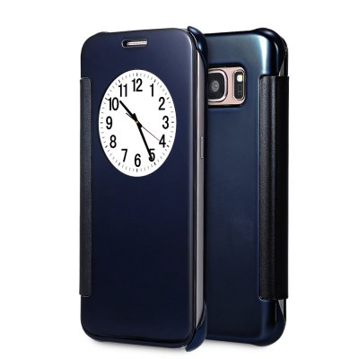 Mirror Luxury PC Flip Cover Case with Auto Sleep Wake Up Function for Samsung Galaxy S7 Edge