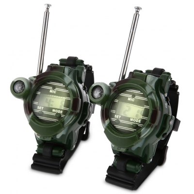 2pcs 7 in 1 Walkie Talkie Watch Toy for Children