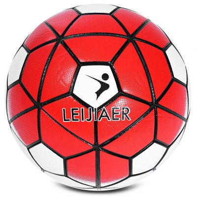 LEIJIAER Size 5 PU Anti-slip Graded Soccer Ball Football