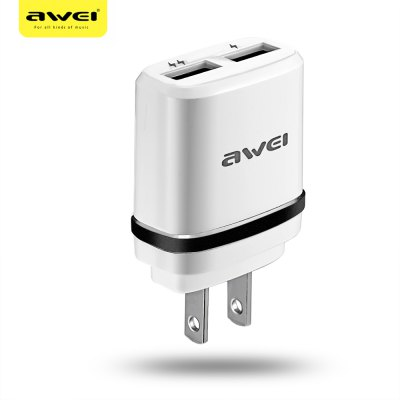Awei C - 920 2 USB Multifunctional Travel Adapter US Plug