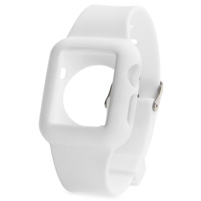 42mm Silicone Material Watchband with Buckle Clasp for Apple Watch