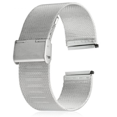 20mm Stainless Steel Mesh Watch Strap Folding Clasp with Safety