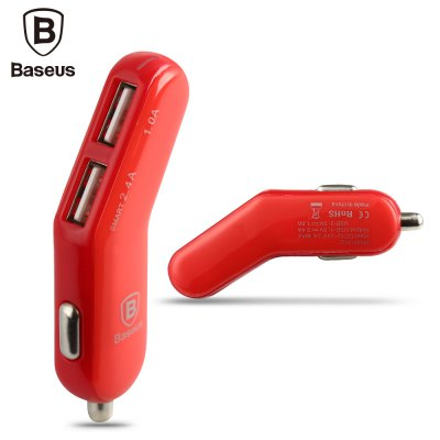 Baseus Smart-thin Stylish Series 3.4A 2 USB Car Charger
