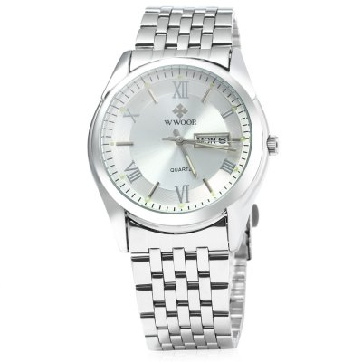WWOOR 8802 Luminous Steel Band Quartz Watch for MenMens Watches<br>WWOOR 8802 Luminous Steel Band Quartz Watch for Men<br><br>Available Color: Black,White<br>Band material: Stainless Steel<br>Brand: WWOOR<br>Case material: Stainless Steel<br>Display type: Analog<br>Movement type: Quartz watch<br>Package Contents: 1 x Watch<br>Package size (L x W x H): 27.00 x 5.00 x 2.10 cm / 10.63 x 1.97 x 0.83 inches<br>Package weight: 0.1620 kg<br>Product size (L x W x H): 26.00 x 4.00 x 1.10 cm / 10.24 x 1.57 x 0.43 inches<br>Product weight: 0.0920 kg<br>Shape of the dial: Circular<br>Special features: Week, Luminous, Date<br>The band width: 2.2 cm / 0.87 inches<br>The dial diameter: 4.0 cm / 1.57 inches<br>The dial thickness: 1.1 cm / 0.43 inches<br>Watch style: Fashion<br>Watches categories: Male table<br>Water resistance : 30 meters