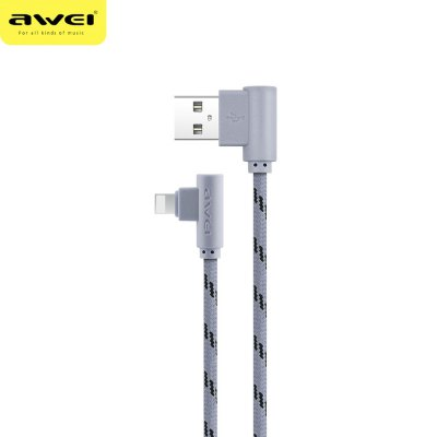 Awei CL - 91 8 Pin L Shape Connector Charging Data Cable