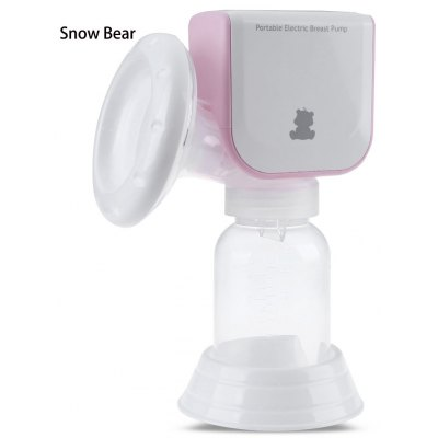 Snow Bear Portable LED PP Silicone Electric Breast Pump