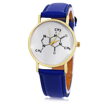 Women Quartz Watch Formula Pattern Dial