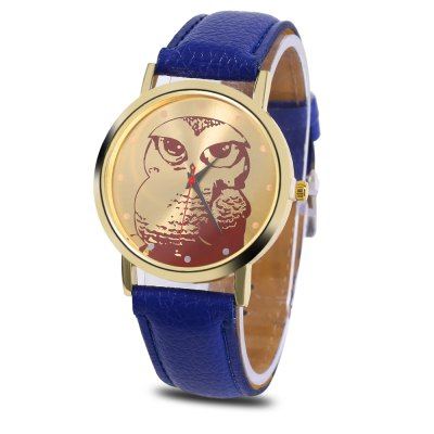 Women Owl Pattern Dial Quartz Watch