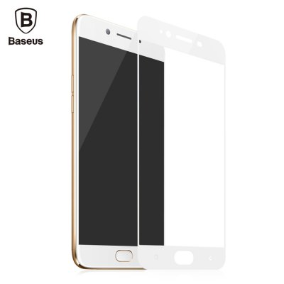 Baseus Tempered Glass Silk screen Printed Full Edge Coverage Shatterproof Protective Film for OPPO R9s 0.3mm