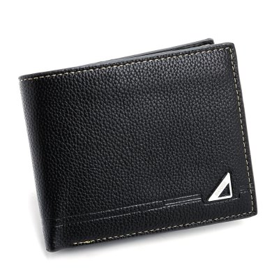 Men Three Fold WalletMens Wallets<br>Men Three Fold Wallet<br><br>Closure Type: Open<br>Color: Black<br>Gender: For Men<br>Height: 1.5<br>Length(CM): 12<br>Main Material: PU Leather<br>Package Contents: 1 x Wallet<br>Package size (L x W x H): 13.00 x 11.00 x 2.00 cm / 5.12 x 4.33 x 0.79 inches<br>Package weight: 0.0950 kg<br>Pattern Type: Geometric<br>Product weight: 0.0800 kg<br>Style: Fashion<br>Wallets Type: Clutch Wallets<br>Width: 10