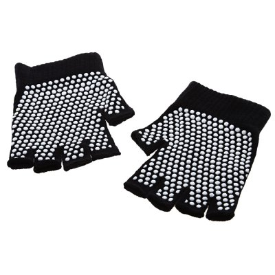 Cotton Anti-slip Breathable Fingerless Yoga Gloves