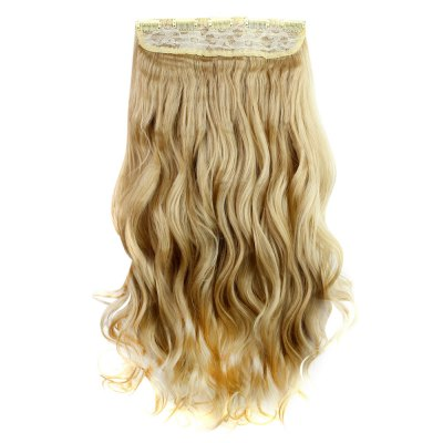 AISI HAIR Long Curly Synthetic 5 Clips in Wig ExtensionsHair Extensions<br>AISI HAIR Long Curly Synthetic 5 Clips in Wig Extensions<br><br>Advantage: Very Soft and Fashionable<br>Bang Type: None<br>Gender: Female<br>Hair Density: 120 Heavy Density<br>Lace Wigs Type: None Lace Wigs<br>Length: Medium<br>Length Size(CM): 45<br>Length Size(Inch): 17.72<br>Material: Human Hair<br>Net Type: Half  Net<br>Package Contents: 1 x Wig Extensions<br>Package size (L x W x H): 45.00 x 5.00 x 5.00 cm / 17.72 x 1.97 x 1.97 inches<br>Package weight: 0.1400 kg<br>Product size (L x W x H): 45.00 x 5.00 x 5.00 cm / 17.72 x 1.97 x 1.97 inches<br>Product weight: 0.1000 kg<br>Style: Wavy<br>Type: Half Wigs