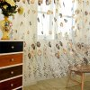 1 x 2m Tulip Floral Printed Sheer Window Curtain for sale