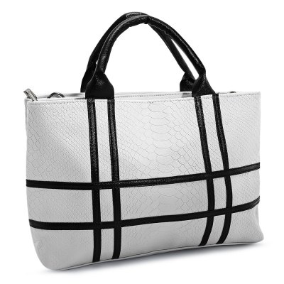 Guapabien Faddish Simple Striped Lady HandbagWomens Bags<br>Guapabien Faddish Simple Striped Lady Handbag<br><br>Closure Type: Zipper<br>External Material: PU<br>Gender: For Women<br>Handbag Type: Totes<br>Internal Material: Polyester<br>Occasion: Versatile<br>Package Contents: 1 x Bag<br>Package size (L x W x H): 34.00 x 13.00 x 25.00 cm / 13.39 x 5.12 x 9.84 inches<br>Package weight: 0.5400 kg<br>Pattern Type: Striped<br>Product size (L x W x H): 33.00 x 12.50 x 24.50 cm / 12.99 x 4.92 x 9.65 inches<br>Product weight: 0.5200 kg<br>Style: Fashion