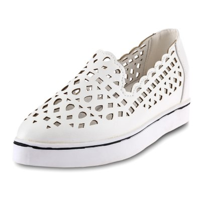 Hollow Out Pointed Toe Ladies Height Increasing Shoes