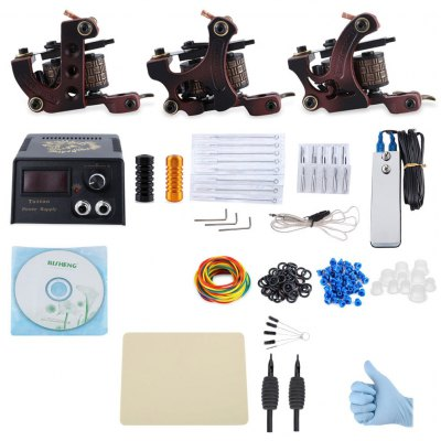 Professional Tattoo Kit 3 Machine Gun Liner