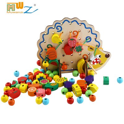 Muwanzi Wooden Beaded Toys Building Blocks