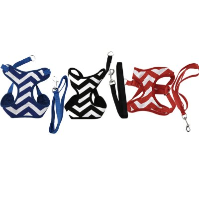 XuanCheng Pet Dog Soft Stripe Mesh Vest Harness Leash StrapDog Collars &amp; Leads<br>XuanCheng Pet Dog Soft Stripe Mesh Vest Harness Leash Strap<br><br>Applicable Dog Breed: Large Dog, Medium-sized Dog, Small Dog<br>Color: Black,Blue,Red<br>Package Contents: 1 x Dog Harness, 1 x Dog Traction Rope<br>Package Size(L x W x H): 23.00 x 17.00 x 2.00 cm / 9.06 x 6.69 x 0.79 inches<br>Package weight: 0.1060 kg<br>Pattern: Striped<br>Product weight: 0.0840 kg<br>Size: L,M,S,XL<br>Style: Fashion