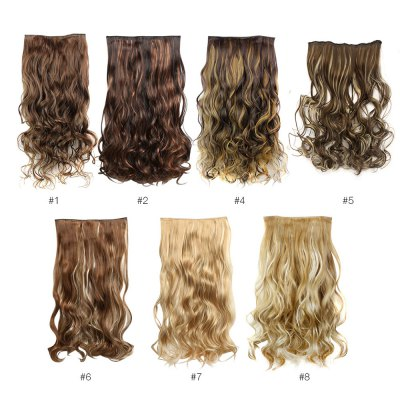 AISI HAIR Long Mixed Colors Curly 5 Clips in Hair ExtensionsHair Extensions<br>AISI HAIR Long Mixed Colors Curly 5 Clips in Hair Extensions<br><br>Gender: Female,Girl<br>Length: Long<br>Length Size(CM): 45<br>Length Size(Inch): 17.71<br>Material: Synthetic Hair<br>Package Contents: 1 x Piece of Hair Extension<br>Package size (L x W x H): 45.00 x 5.00 x 5.00 cm / 17.72 x 1.97 x 1.97 inches<br>Package weight: 0.1400 kg<br>Product weight: 0.1000 kg<br>Style: Curly<br>Type: Half Wigs