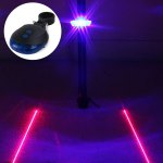 LED Lamp Bicycle Night Warning Light with Double Laser Lines