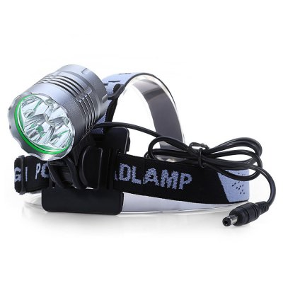K5 - N 5 x Cree XM - L T6 6000lm 3 Modes 7000K Headlamp with 18650 Battery Pack