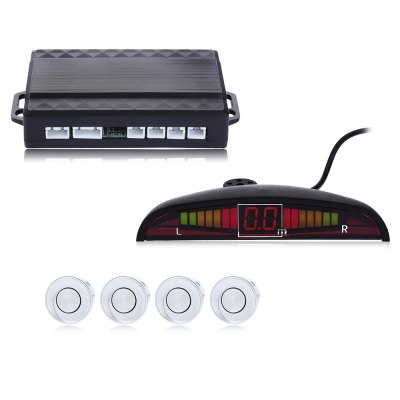 4 Parking Sensors Backup Radar Alarm System