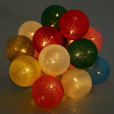 20PCS Cotton LED Ball String Lights