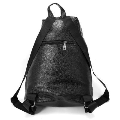 Stylish Leisure Solid Color Women BackpackWomens Bags<br>Stylish Leisure Solid Color Women Backpack<br><br>Color: Black<br>For: Camping, Climbing, Cycling, Hiking, Other, Traveling<br>Material: PU Leather<br>Package Contents: 1 x Bag<br>Package size (L x W x H): 44.00 x 40.00 x 2.00 cm / 17.32 x 15.75 x 0.79 inches<br>Package weight: 0.4600 kg<br>Product size (L x W x H): 30.00 x 16.00 x 38.00 cm / 11.81 x 6.3 x 14.96 inches<br>Product weight: 0.4400 kg<br>Type: Backpack